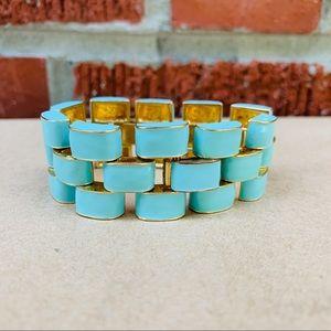 J. Crew Baguette Turquoise Bracelet